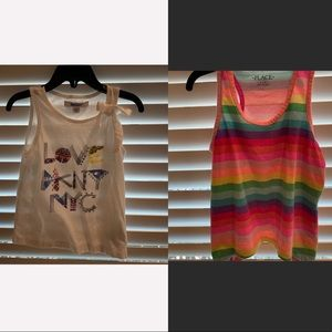 BOGO Love DKNY NYC & Rainbow Tank Tops